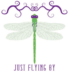 Just Flying By vector image