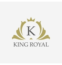 king placeboutique brandreal estateproperty vector image