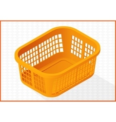 laundry basket 3d vector image