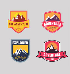 logo mountain vector image