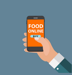 Mobile apps concept online food delivery shopping vector