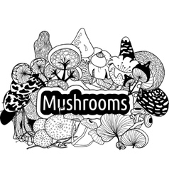 mushrooms3 vector image
