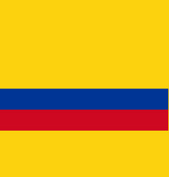 National flag colombia is isolated vector