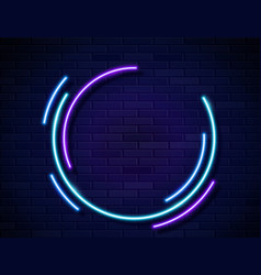 neon glowing circles frame for banner on dark vector image