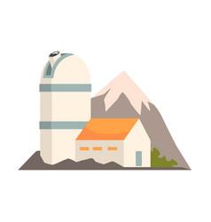 observatory station cartoon vector image
