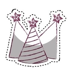 Party hats isolated icon vector