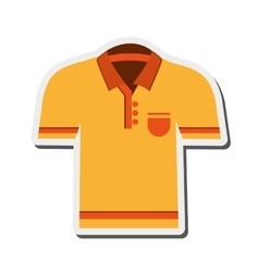 Polo shirt icon vector
