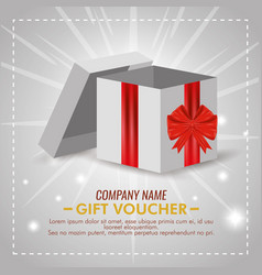 present gift with special sale discount vector image