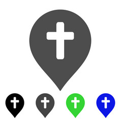 religion cross marker flat icon vector image