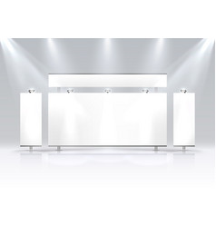 scene show podium for presentations vector image