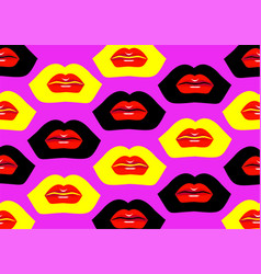 Seamless lip print vector