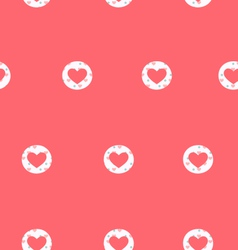 Seamless pattern with heart isolated on pink vector image