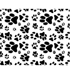seamless print dogs paws vector image