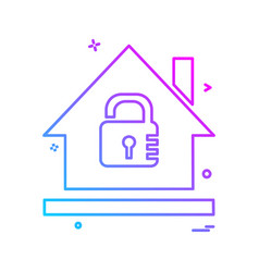 secure home icon design vector image