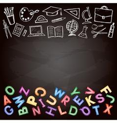 set school sign vector image