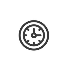simple outline wall clock icon symbol vector image
