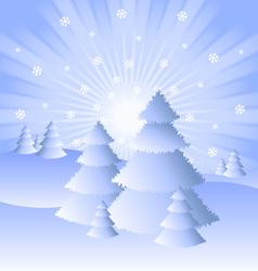 snowy winter scenery vector image