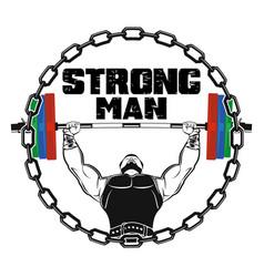 Strong man 0003 vector