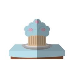Tasty cupckae on table beautiful icon design vector