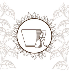 Tea bag with cup vector