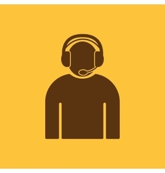 The call center icon Support symbol Flat vector image