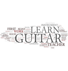 The different avenues to learn guitar text vector