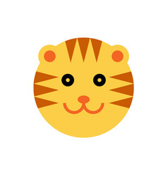 Tiger cartoon animal head vector