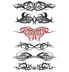 tribal tattoo art sketch vector image
