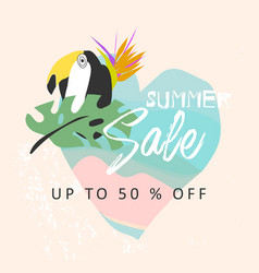 tropical collage sale banner vector image
