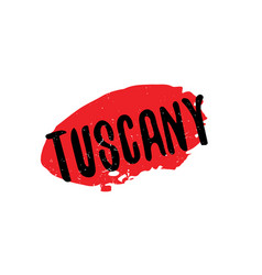 tuscany rubber stamp vector image