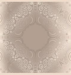 vintage ornamental frame with line pattern vector image