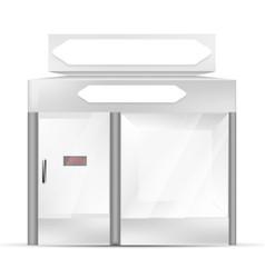 white gray pos poi outdoorindoor 3d shop or vector image