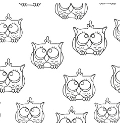 Funny Seamless pattern with owls Baby owls vector image vector image