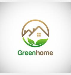 green home environment logo vector image