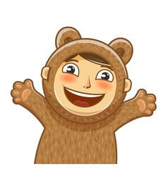 happy child delight smiling kid baby cartoon vector image