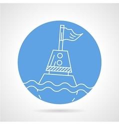 Sea buoy round icon vector image vector image