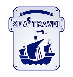 sea travel vector image vector image