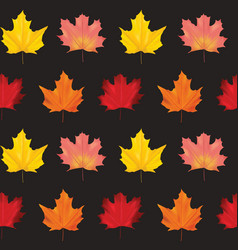 seamless colorful autumn leaves background pattern vector image vector image