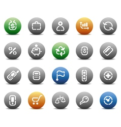 Stencil round buttons for business vector image vector image