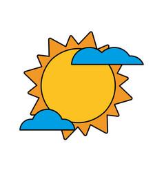 sun cloud weather image vector image vector image