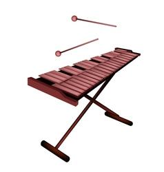 Xylophone or Marimba Isolated on White Background vector image vector image