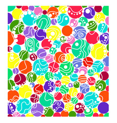 abstract colored circles vector image