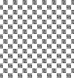 Checkered monochrome seamless pattern vector image vector image