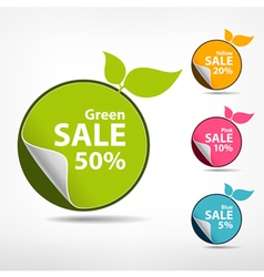 Colorful sticker price tag vector image