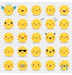 Emoticons Transparent Set vector image vector image