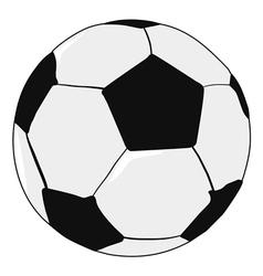 football ball sport object vector image vector image