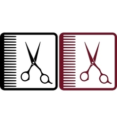 hairdresser signs vector image vector image