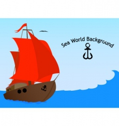 sea world background vector image