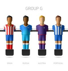 Table football foosball players Group G vector image vector image