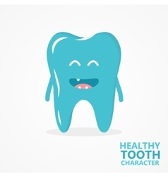 cartoon tooth character vector image vector image